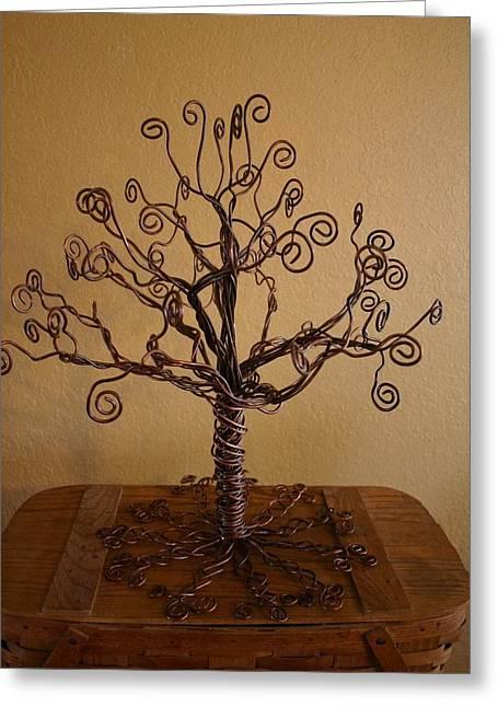 Tree Of Life Greeting Card by Shawna Dockery