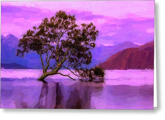 Tree Of Life - Violet Dream Greeting Card