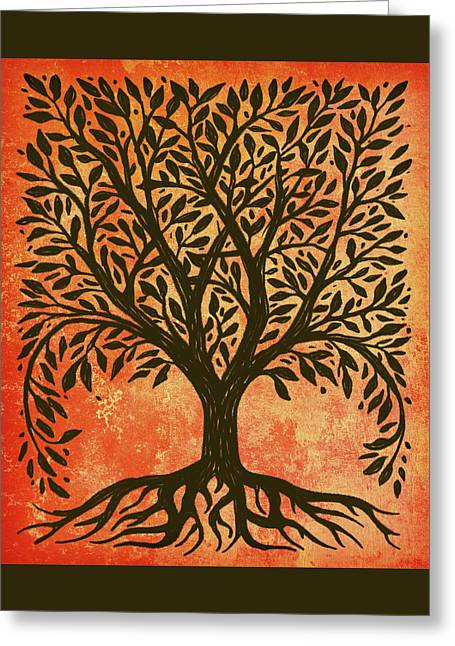 Tree Of Life Warm Greeting Card