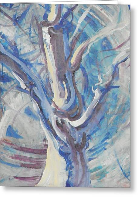 Greeting Card featuring the painting Tree Of Light by John Fish
