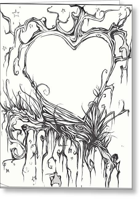 Tree Of Love Greeting Card by Meggan Shepard