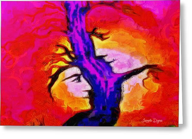 Tree Of Memories - Pa Greeting Card by Leonardo Digenio