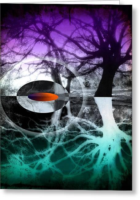 Tree Of Shadows Greeting Card by Michi Sherwood