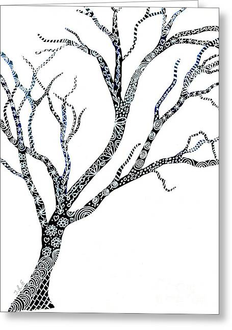 Tree Of Strength Greeting Card