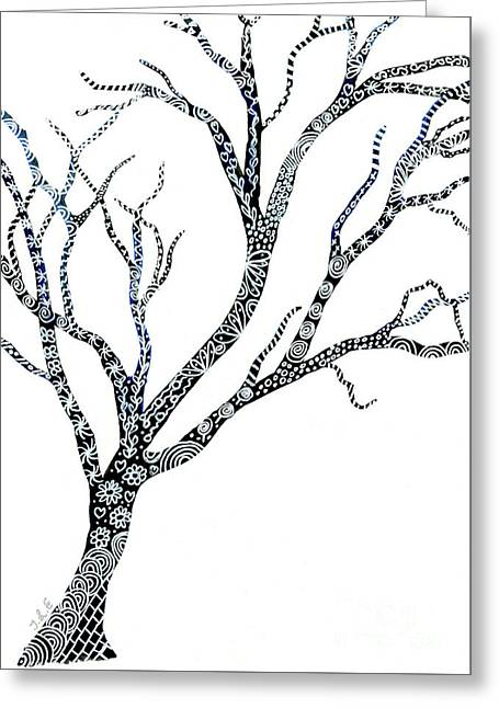 Tree Of Strength Greeting Card