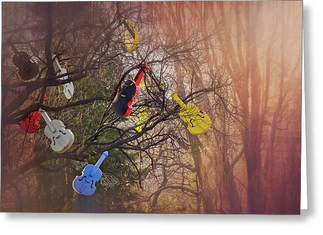 Tree Of Violins In Vienna  Greeting Card
