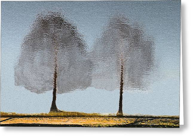 Tree Reflections Greeting Card by Rosalie Scanlon