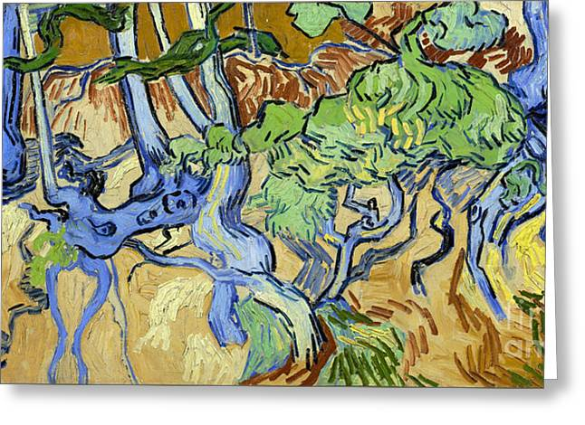 Tree Roots Greeting Card by Van Gogh