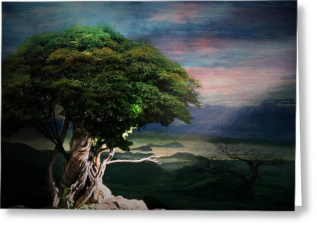 Tree Spirit Greeting Card by Terry Fleckney