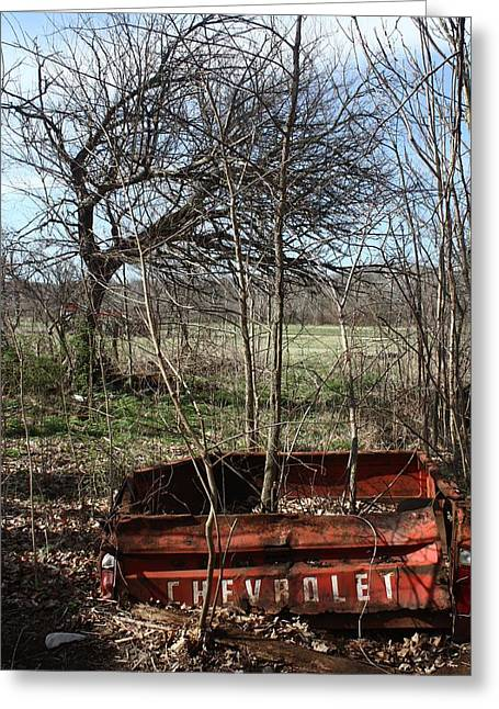 Tree The Usa  In A Chevrolet Greeting Card