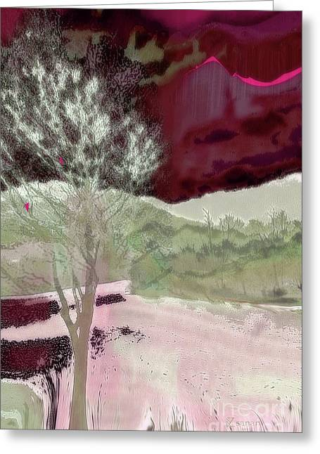 Tree Witness To Lake At Dawn Greeting Card