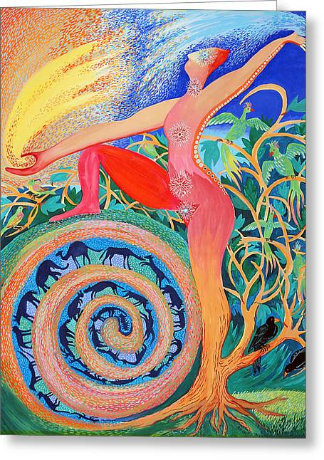 Tree Woman Greeting Card