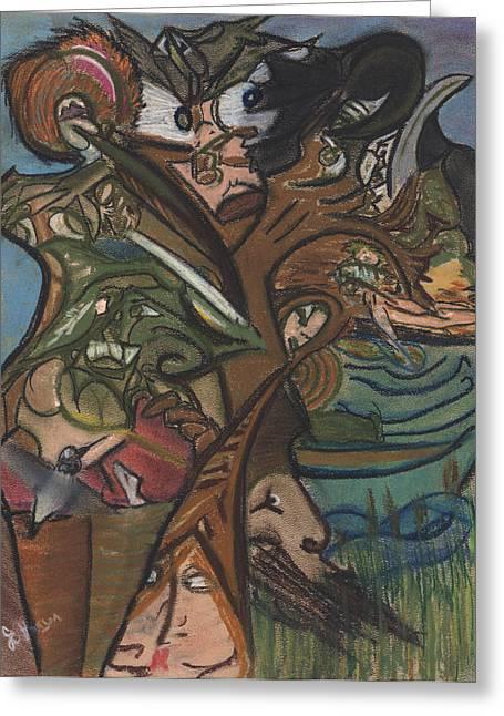 Treed In Skiatook Greeting Card by Stu Hanson