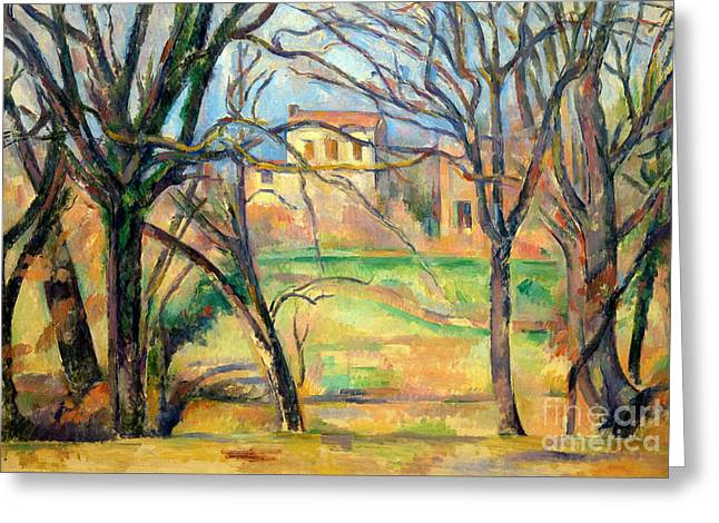 Trees And Houses, Arbres Et Maisons, By Paul Cezanne, 1885-86, M Greeting Card by Peter Barritt