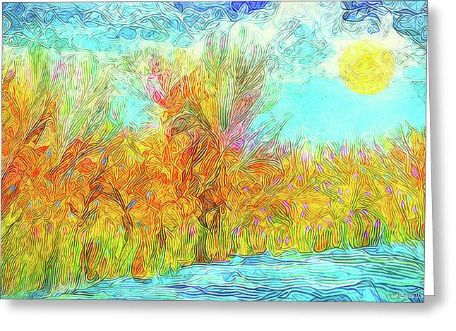 Greeting Card featuring the digital art Trees Flow With Sky - Boulder County Colorado by Joel Bruce Wallach