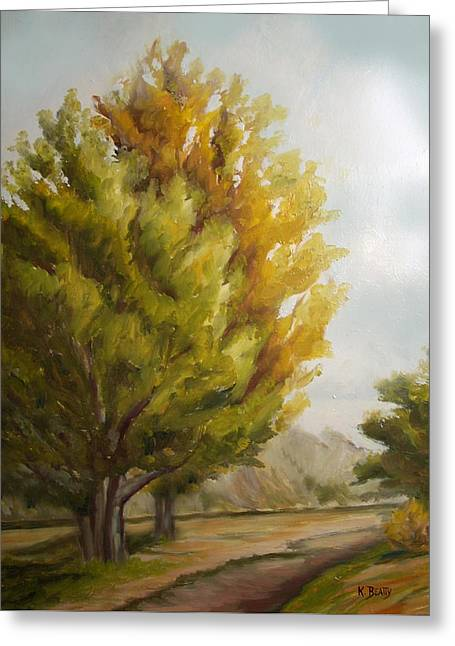 Trees In Boulder Greeting Card by Karla Beatty