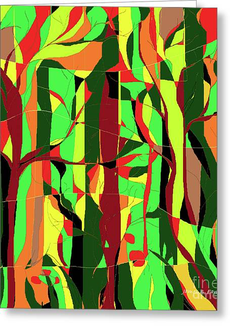 Trees In The Garden Greeting Card
