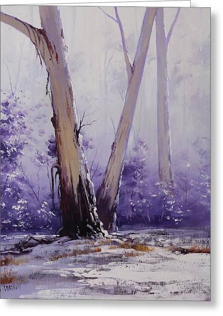 trees in winter Australia Greeting Card