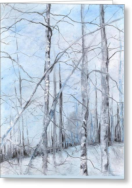 Trees In Winter Snow Greeting Card by Robin Miller-Bookhout
