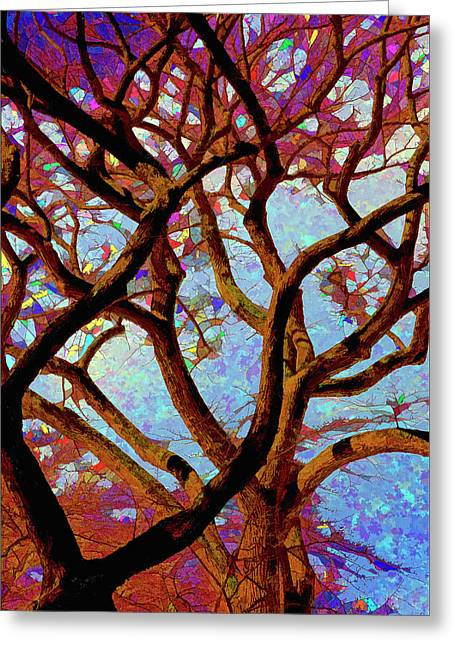 Trees Of Another Color Greeting Card by Robert Ullmann