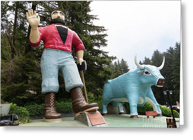 Trees Of Mystery Paul Bunyan And Babe Klamath California Dsc5363 Greeting Card
