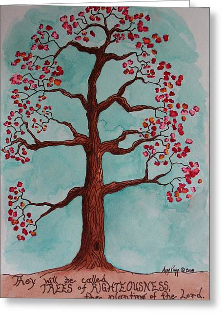 Trees Of Righteousness Illustration Greeting Card by Amy Parker Evans
