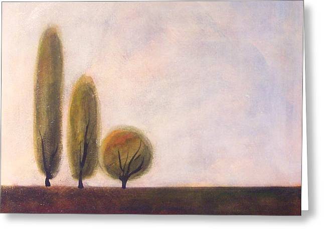 Trees Of Tuscany 2 Greeting Card by Victoria Heryet