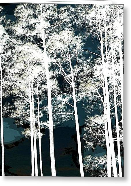 Greeting Card featuring the photograph Trees On Sam Rayburn Lake Right by Ellen Barron O'Reilly