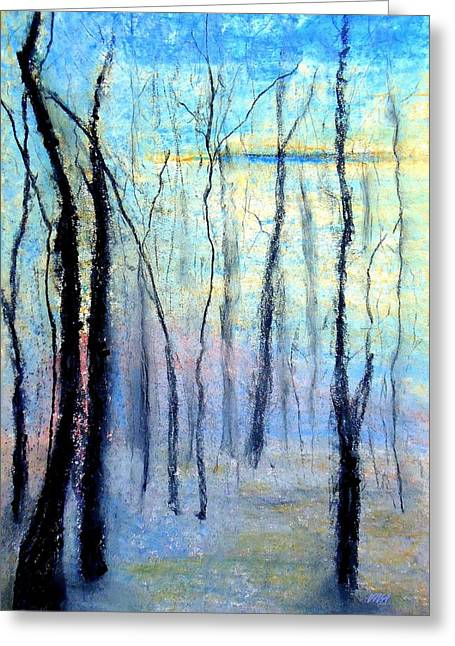 Treescape - Evening Greeting Card