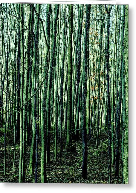 Treez Green Greeting Card