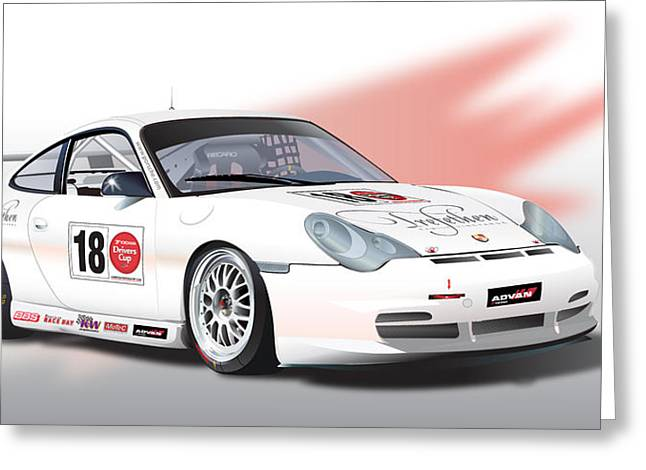 Trefethen  Gt3 Cup Greeting Card by Alain Jamar