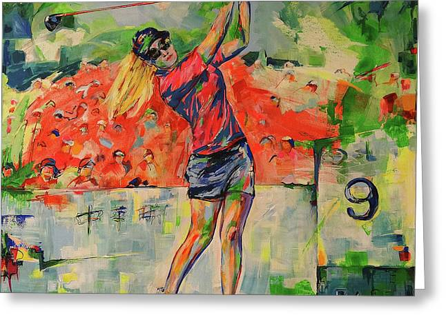 Treibschlag Vom 9 Tee Drive From The 9th Greeting Card
