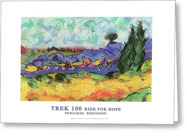 Trek 100 Poster Greeting Card by Mykul Anjelo
