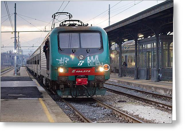Trenitalia Greeting Card by Andre Goncalves