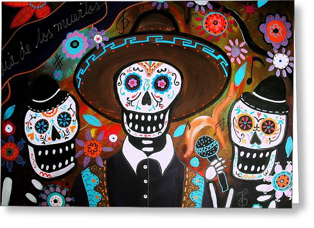 Tres Mariachis Greeting Card