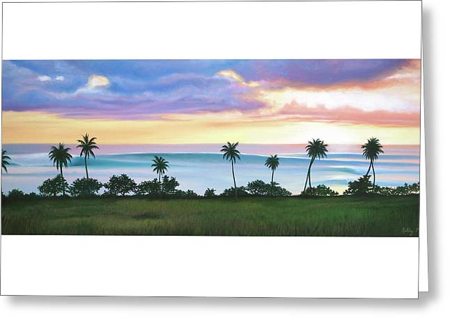 Tres Palmas Greeting Card by Kelly Meagher