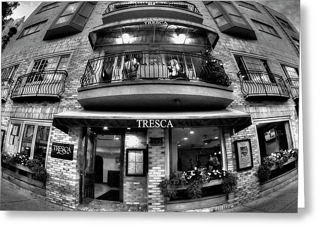 Tresca Storefront - Boston North End Greeting Card