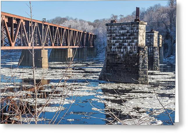 Trestle In Winter Greeting Card