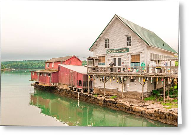 Trevett Country Store Greeting Card by Laurie Breton