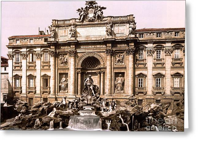 Trevi Fountain, 1890s Greeting Card by Science Source