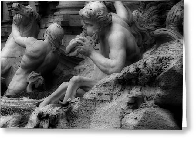 Trevi Fountain Detail 2 Greeting Card by Andrew Fare