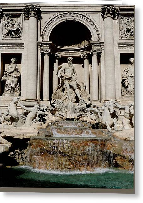 Trevi Fountain Greeting Card by Leena Kewlani