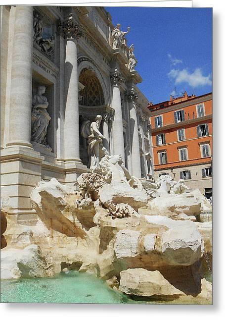 Trevi Fountain Rome Italy Greeting Card by Irina Sztukowski