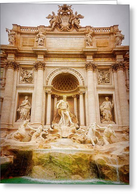 Trevi Fountain Rome Italy Greeting Card by Joan Carroll