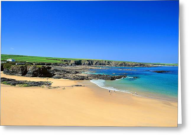 Trevone Bay Greeting Card by Carl Whitfield