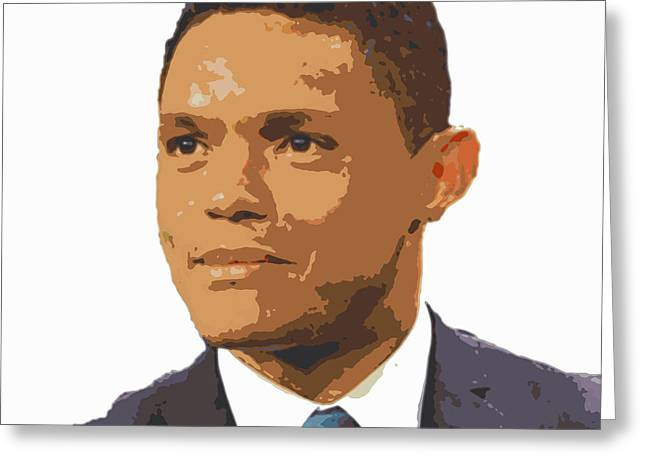 Trevor Noah  Greeting Card by Pd