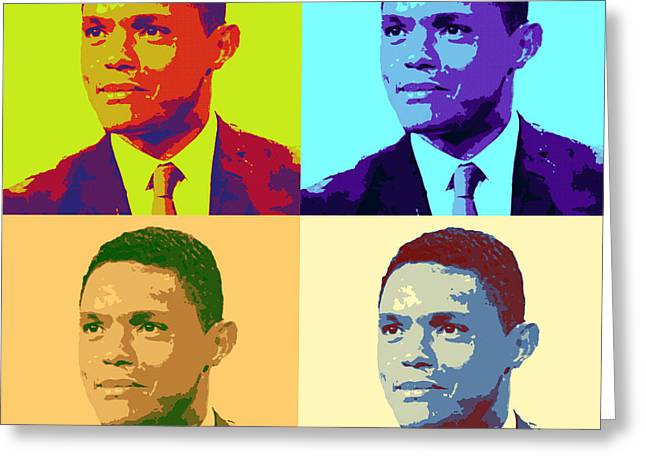 Trevor Noah Pop Art Greeting Card by Pd