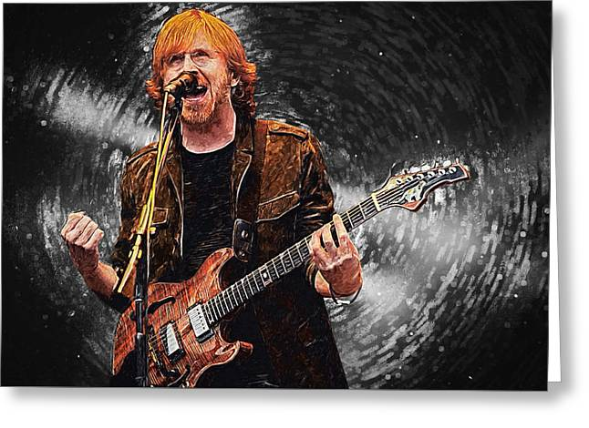Trey Anastasio Greeting Card by Taylan Apukovska