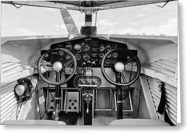 Tri-motor Cockpit - 2017 Christopher Buff, Www.aviationbuff.com Greeting Card by Chris Buff