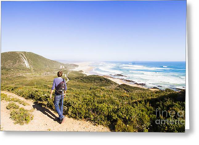 Trial Harbour To Strahan Via Ocean Beach Greeting Card by Jorgo Photography - Wall Art Gallery